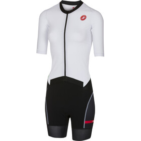 Castelli All Out Body Donna, white/black